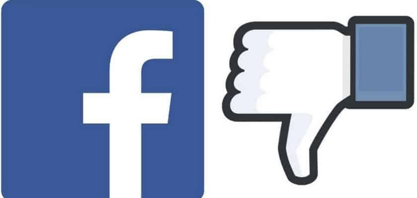 facebook thumbs down dislike security breach delete