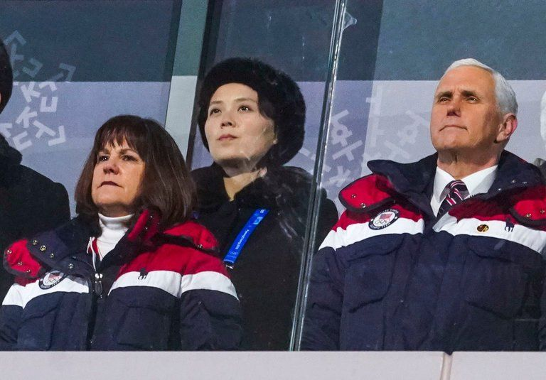 Mike Pence north and south Korea Olympics