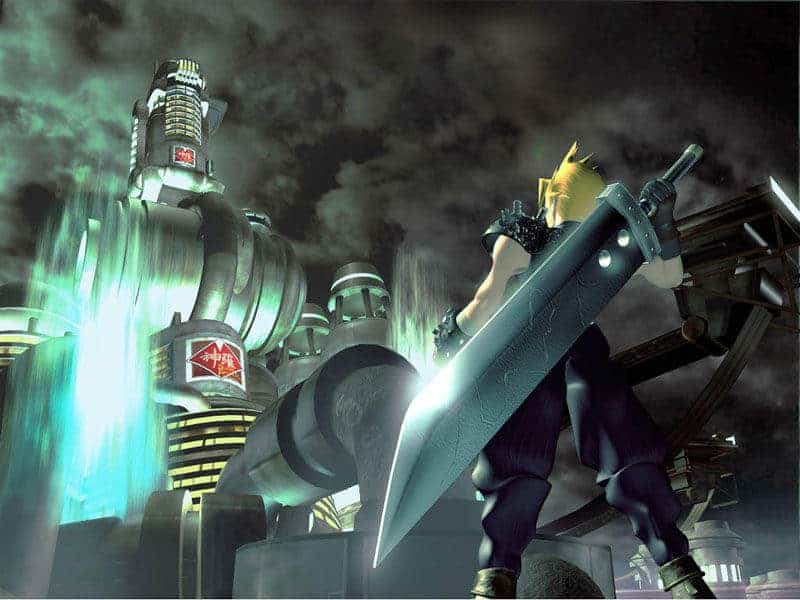 FF7 final fantasy 7 VII FVII shinra building and cloud