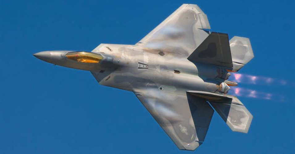 F 22A Raptor fighter jet