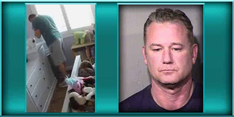 Deputy US U.S. Marshal David Timothy Moon caught nanny cam catches him sniffing smelling little girl's underwear panties sentenced probation