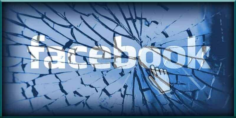 Facebook broken shattered smashed glass social media FB fact checker checkers