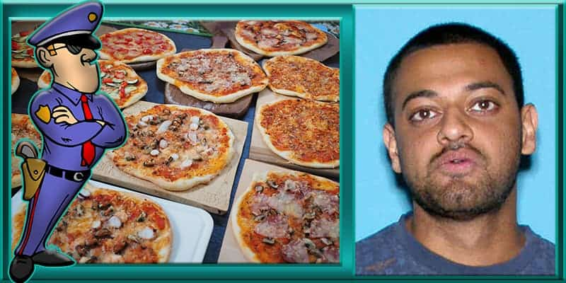Florida man Sudeep Khetani placed placing large pizza orders to police department South Brunswick Township New Jersey
