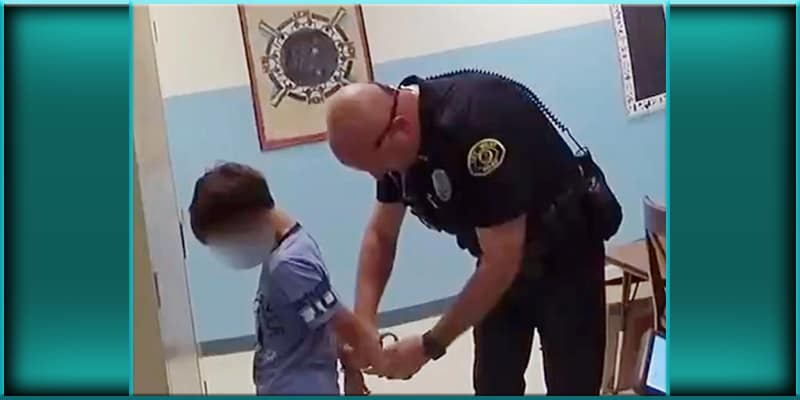 Key West Florida police officers put 8 eight year old boy in handcuffs