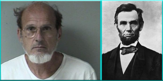 George Arthur Buss Abraham Lincoln Impersonator Stephenson County Illinois arrested arrest child porn pornography
