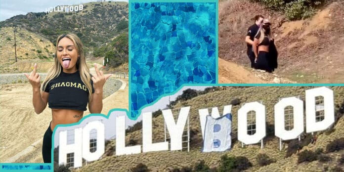 Hollywood hollyboob sign California shagmag Julia Rose