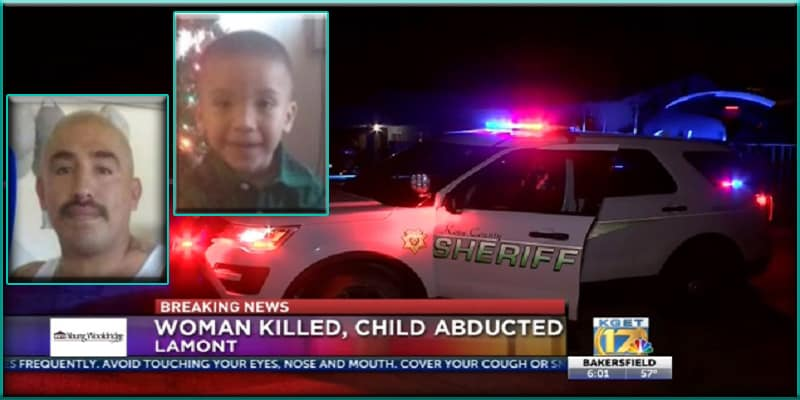 California Javier Vidal killed in during standoff with police Kern County Sheriff's Office abducted son murdered pregnant woman