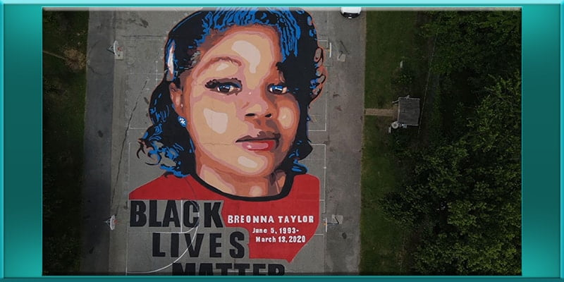 Breonna Taylor black lives matter blm mural inChambers Park in Annapolis Ky Kentucky