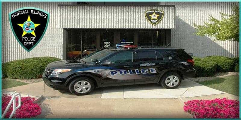 Normal Police Department Illinois SUV and logo