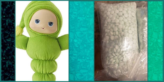 Parents find 5000 fentanyl pills inside daughters Glo Worm toy in Phoenix Arizona Police