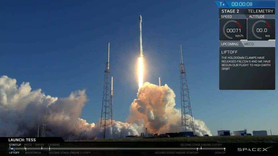 spacex space x tess nasa falcon 9 rocket launch successful