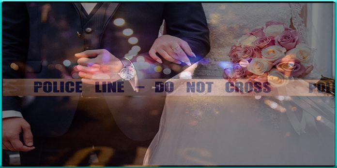 groom struck hit by bullet gunshot on wedding day Harris County Texas