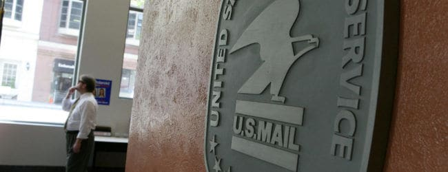 USPS US post office postal worker mailman logo