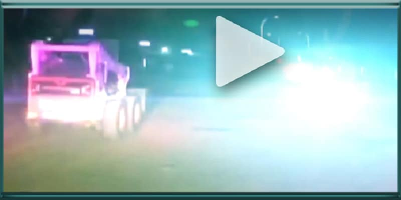 bobcat bandit driver driving tractor gets away from Santa Fe New Mexico police low speed chase