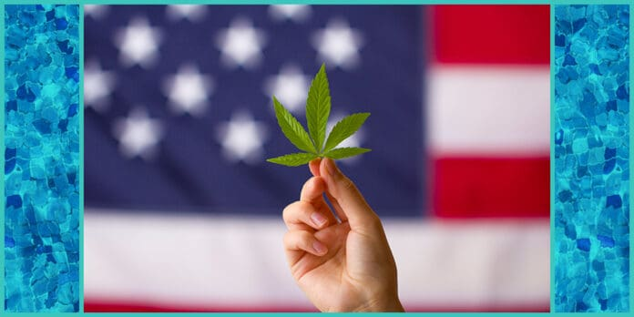 cannabis leaf american flag Virginia set to legalize marijuana first southern state to do it