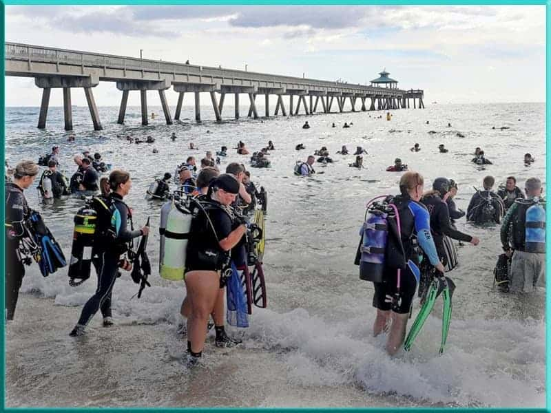 Guinness World Record largest biggest underwater cleanup Deerfield Beach South Florida