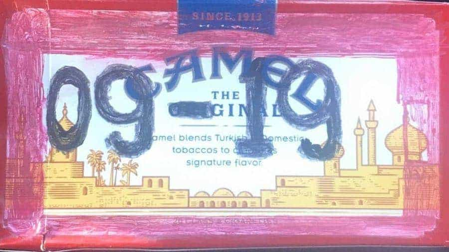 fake inspector sticker camel cigarette box drivers used plaistow new hampshire police