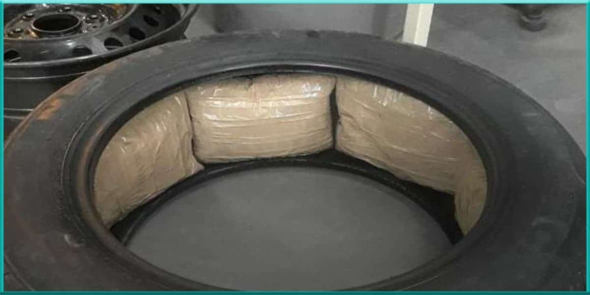 Ford tire loaded packed with meth drug cartels Canadian dealerships