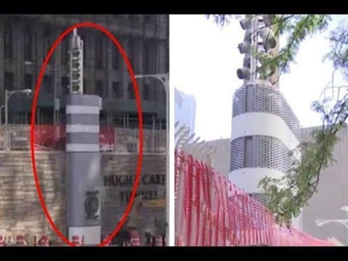 NY new york government erecting erected mystery mysterious metal towers won't say why