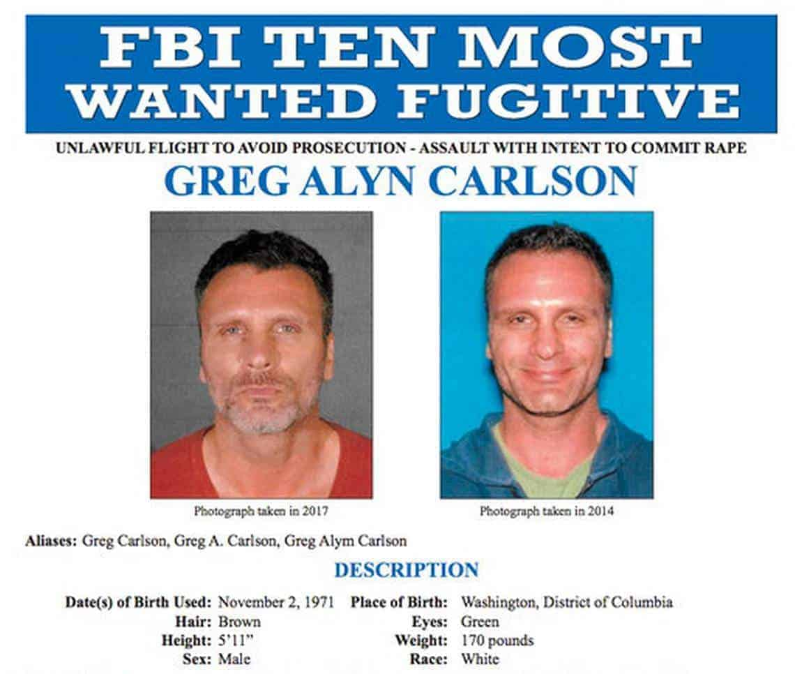 Greg Alyn Carlson most wanted man killed by FBI