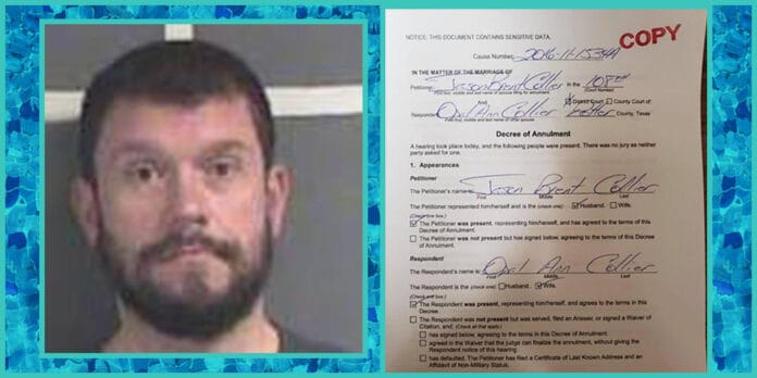 jason collier married former stinnet police chief stinnett texas resigned amid cheating scandal arrested fake marriage annulment document