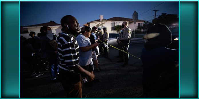Los Angeles protests after following fatal police shooting of black man August 31 2020