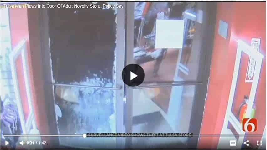 man robs sex shop adult novelty store oklahoma