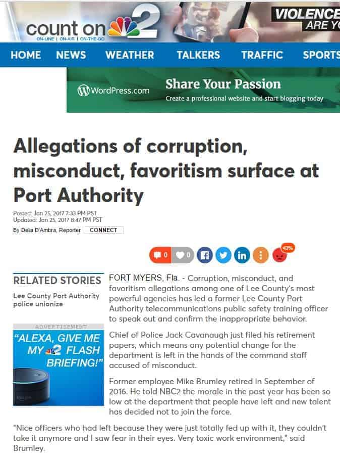 nbc 2 news allegations of corruption misconduct favortism surface at port authority