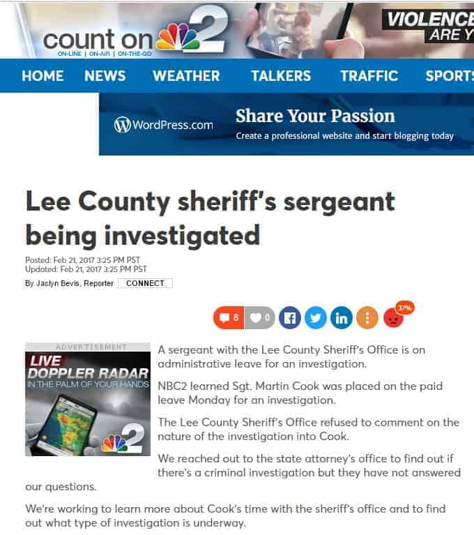 nbc 2 news lee county sheriffs sergeant being investigated
