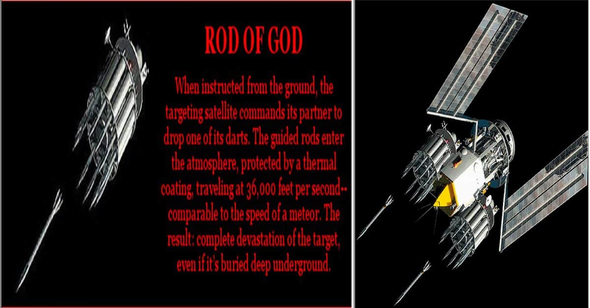 World war 3: Rods from God kinetic space weapons | Daily Star |Rod From God Weapon
