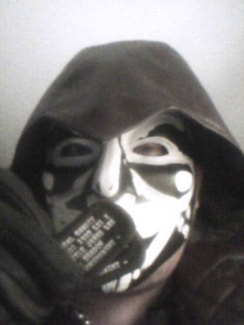 custom painted guy fawkes mask anonymous kyle james lee