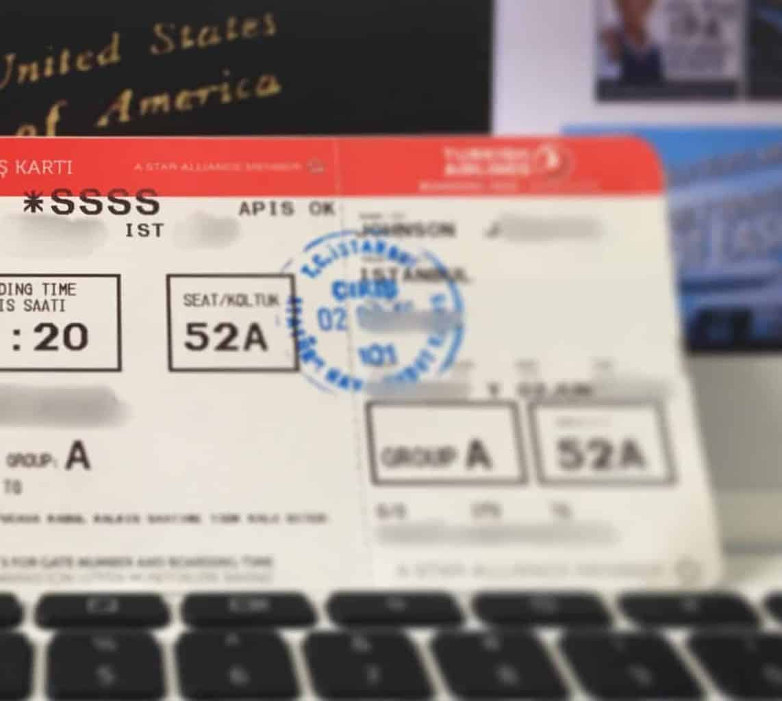 mysterious SSSS code on boarding pass passes at airports
