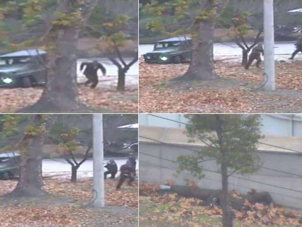 North Korean soldier defector makes run mad rash for freedom border shot several times